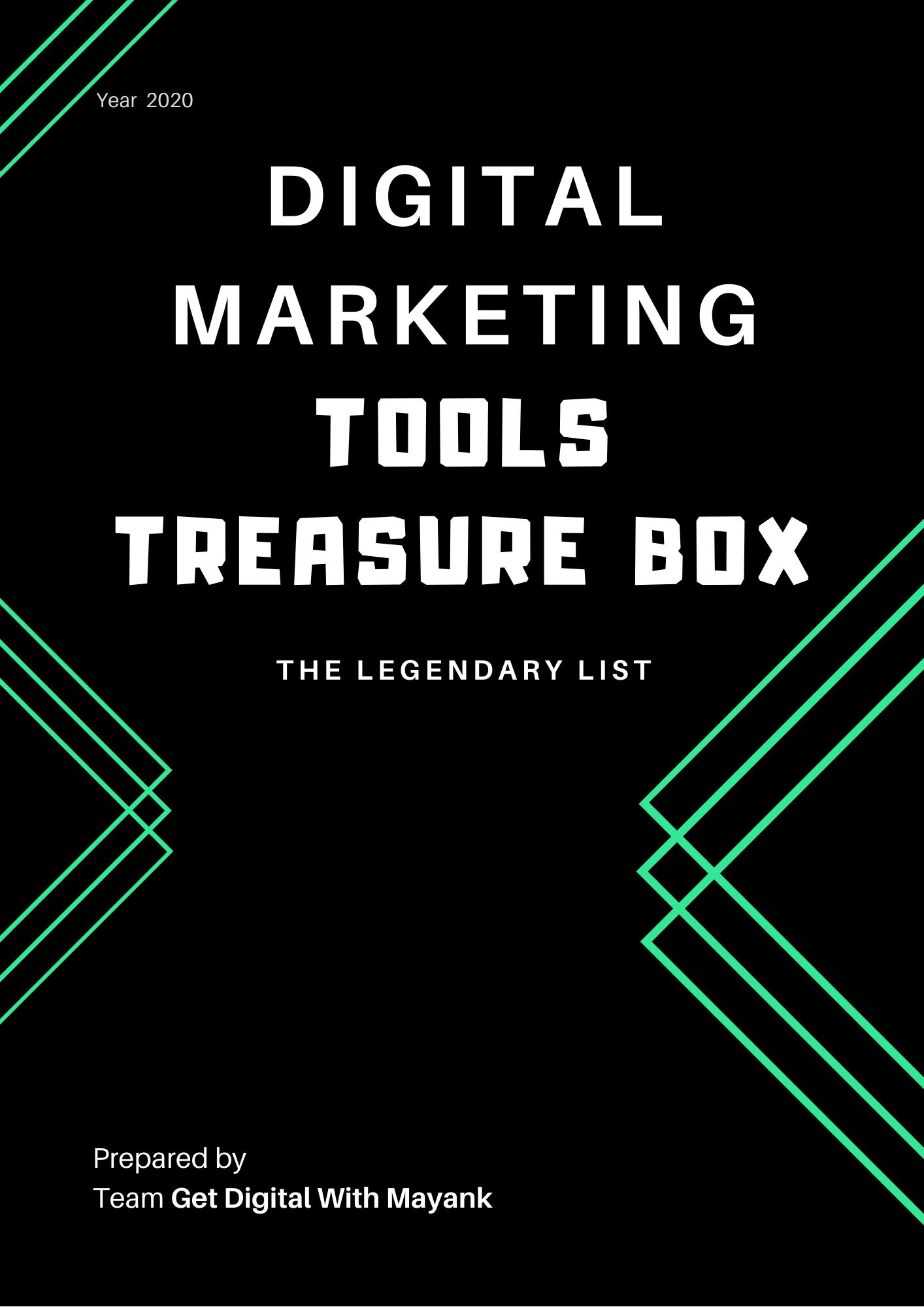 Digital Marketing Legendary Tool List by Get Digital With Mayank